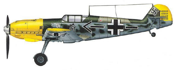 Adolf Galland's Messerschmitt Bf 109E of JG.26 Schlageter Kdz. France 1940