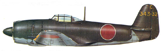 Kawanishi N1K2-J Shiden of the 343rd Kokutai