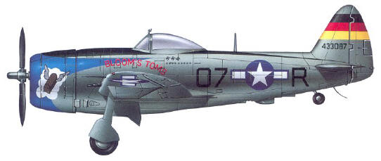 A Republic P-47D 514th Fighter Squadron 406th Fighter Group 9th Air Force USAAF - Italy 1944
