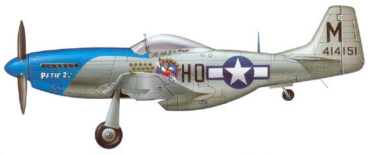 A P-51D Mustang of the 478th Fighter Squadron 352nd Fighter Group US Army Air Force.