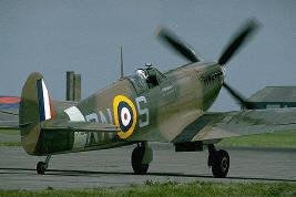 Spitfire on the tarmac