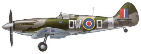 A Supermarine Spitfire Mk XIV of 610 Fighter Squadron Royal Air Force - England 1944